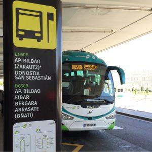 Bus from Loiu Bilbao Airport to Donostia-San Sebastián